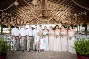 Casual Neutral Wedding Party
