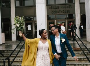 """For Kyra and Portia, """"the idea of planning a wedding sounded exciting to us. However, it definitely seemed like a ton of work and money. The type of w"""