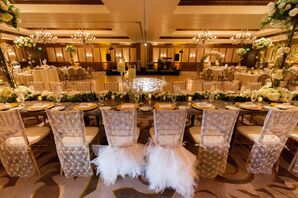 Tulle Bride and Groom Chair Decor
