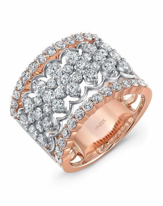 Uneek Fine Jewelry The Chantilly Open Lace Diamond Band/LVBW407RW Wedding Ring photo