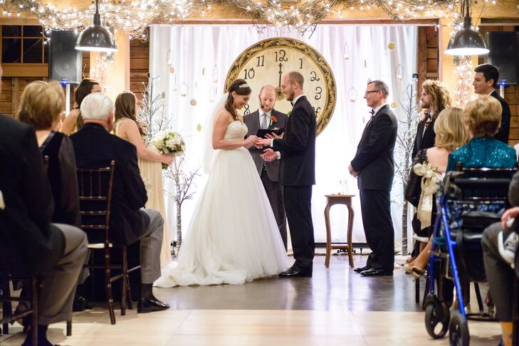 """""""The moment that best reflected us as a couple was our ceremony,"""" says Rachel. """"After taking communion as a couple, we had our bridal party gather around us to pray for us, for our marriage and our new ministry together."""""""