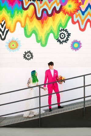Vibrant Couple Portraits at the Unique Space in Los Angeles, California