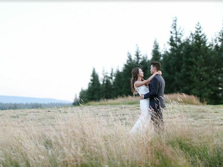 Mountain wedding venue in Snoqualmie, Washington.