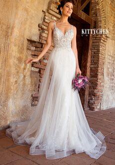 KITTYCHEN Couture CYNDI SKI, K1967 Sheath Wedding Dress