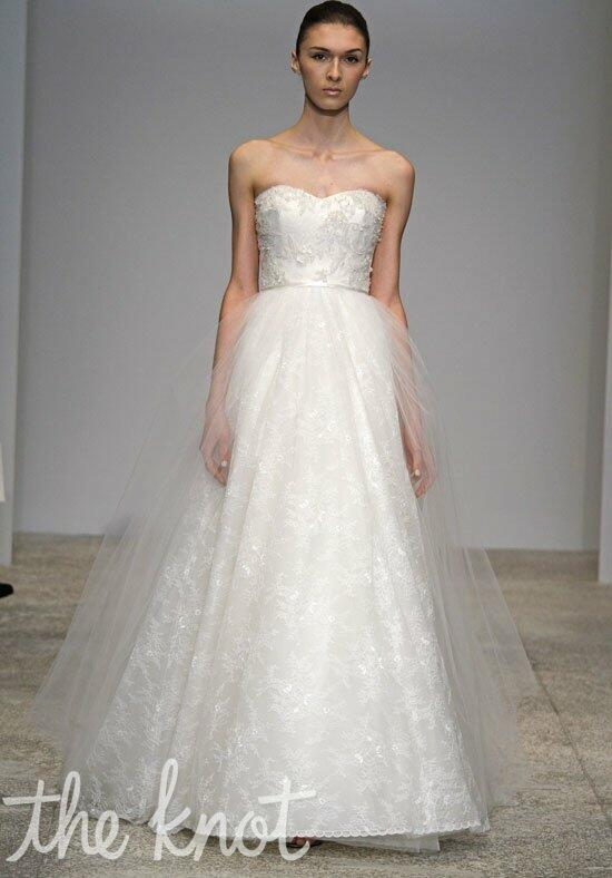 Christos Spring Blossom Wedding Dress photo