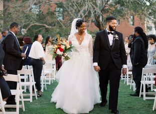 """LaToya and Elliott, """"wanted a wedding worthy of an oil painting's depiction; one that is timeless and worth reveling for generations to come. From thi"""
