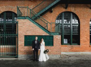 Bevin Stella (31 and a senior marketing manager at The Knot) and Matt Wheeler (33 and cofounder of SportsRecruits) met through mutual friends. The c
