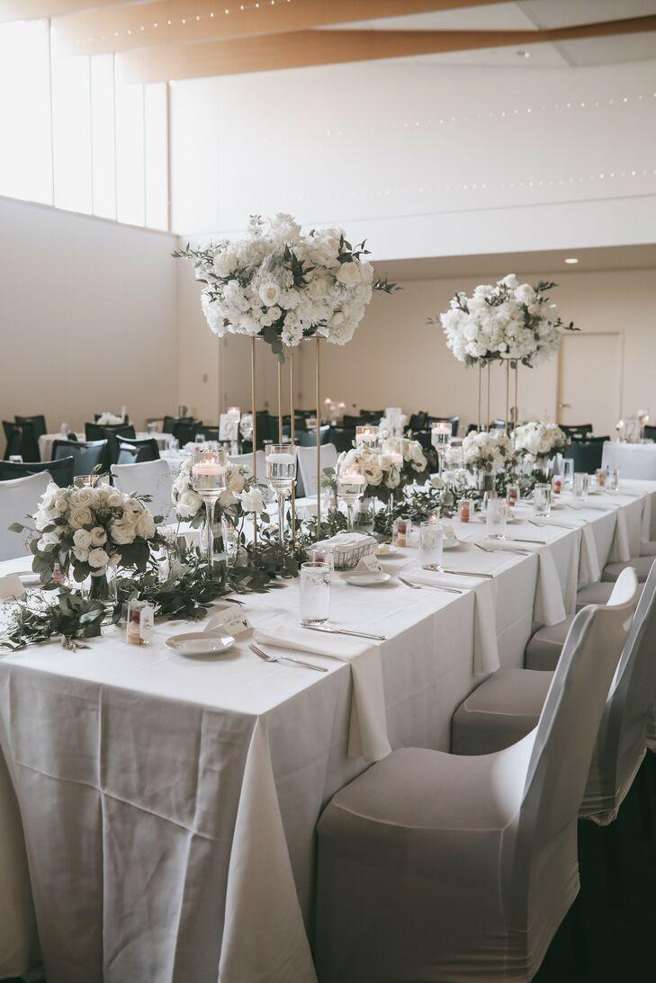 All-White Wedding Reception at The American Swedish Institute in Minneapolis, Minnesota