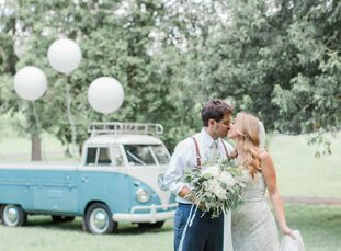 """As a professional wedding planner, Megan Glenn (25) has seen her fair share of venues. """"I wanted to get married somewhere I hadn't planned a client's"""