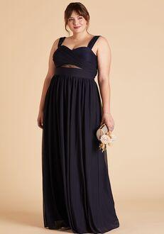 Birdy Grey Elsye Mesh Curve Dress in Navy Halter Bridesmaid Dress