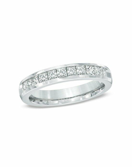 Zales 1 CT. T.W. Princess-Cut Diamond Wedding Band in 14K White Gold  18701235 Wedding Ring photo
