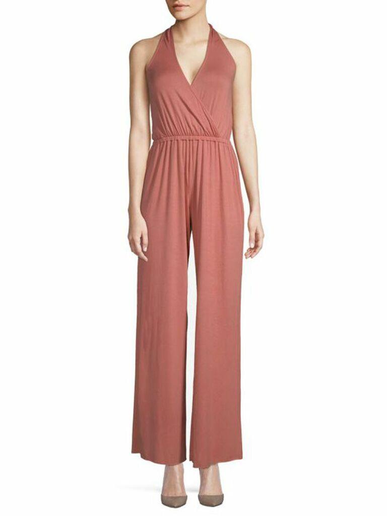 pink haltered jumpsuit