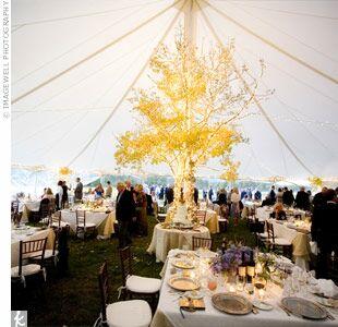 Tree reception decor