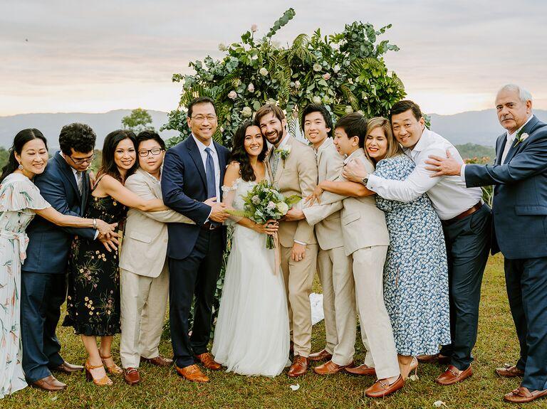 Acree wedding family portrait