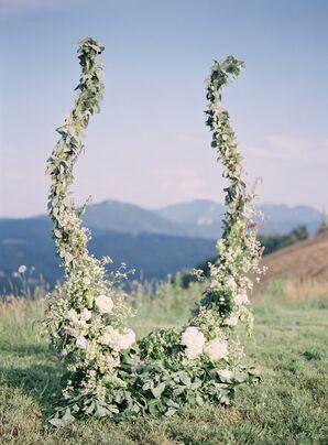 Organic Fresh Flower Ceremony Backdrop