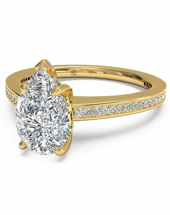 Ritani Pear Shaped Diamond Micropave Band Engagement Ring in 18kt Yellow Gold (0.20 CTW) Engagement Ring photo