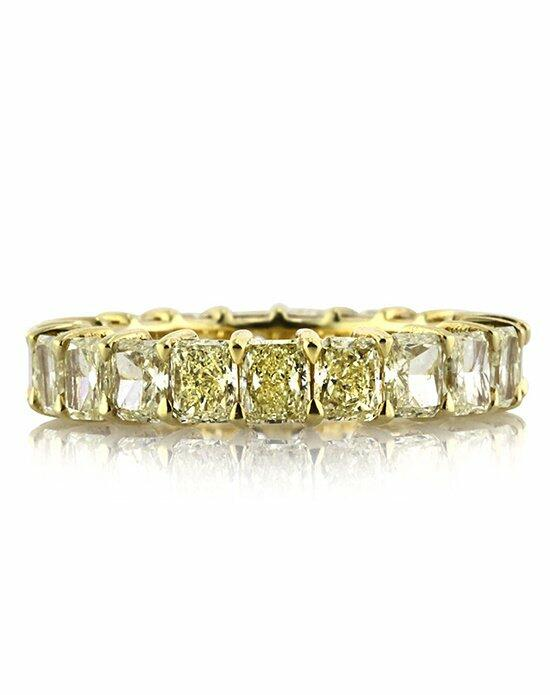 Mark Broumand 4.70ct Fancy Yellow Radiant Cut Diamond Eternity Band Engagement Ring photo