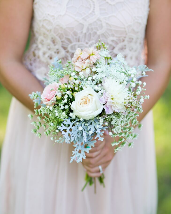 Dusty Miller and Rose Bouquet