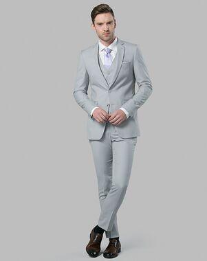 Menguin Light Gray Suit Gray Tuxedo