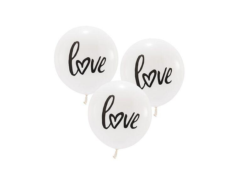 Love balloons for wedding car decoration