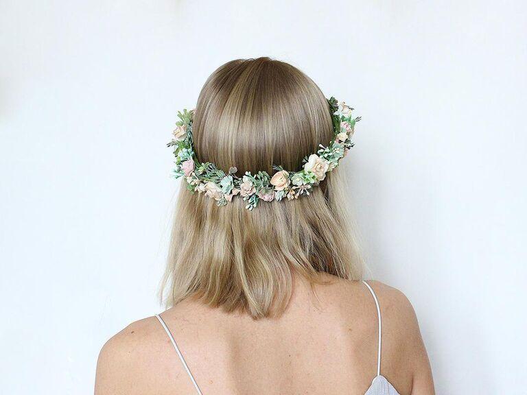 Faux flower headband