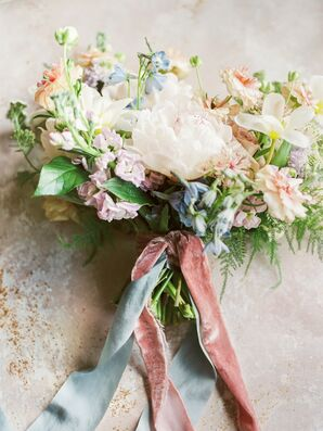 Pastel Bouquet with Ribbons for Ohio Wedding