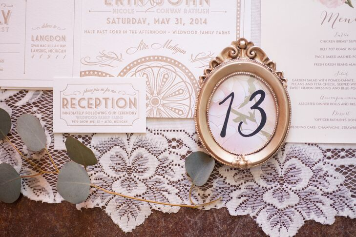 Ivory and Gold Invitation Suite