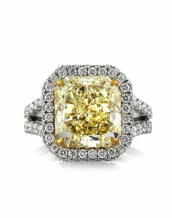 Mark Broumand 8.33ct Fancy Yellow Radiant Cut Diamond Engagement Ring Engagement Ring photo