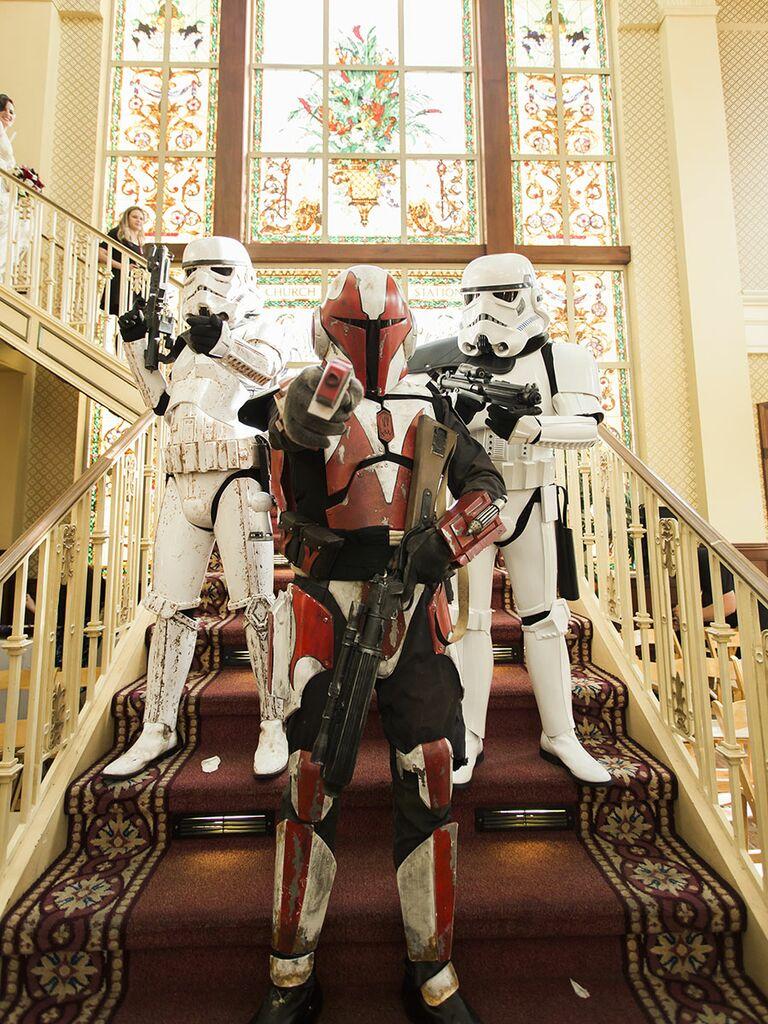Star Wars stormtroopers wedding