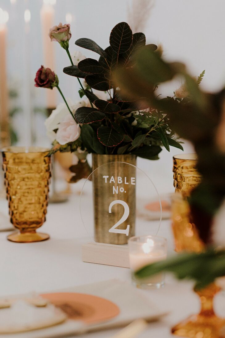 Table Number for Reception at The Space HTX in Houston, Texas