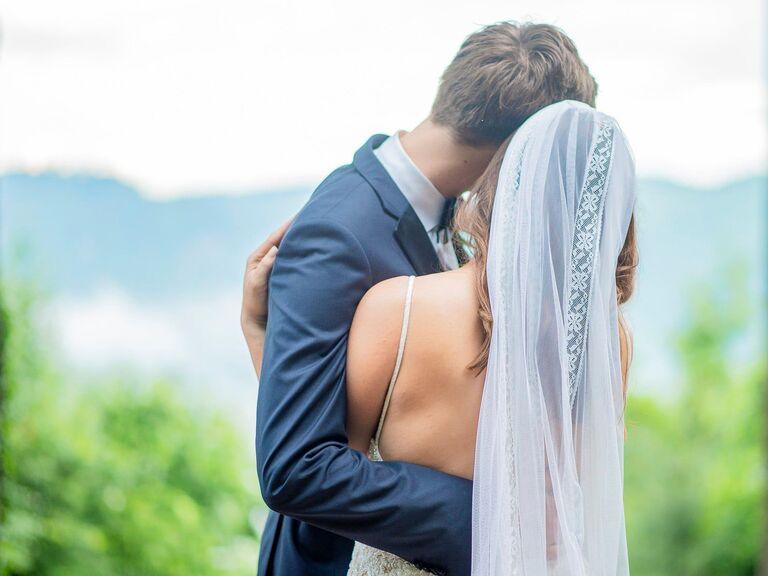 Lindsay and her husband Ras on their wedding day.