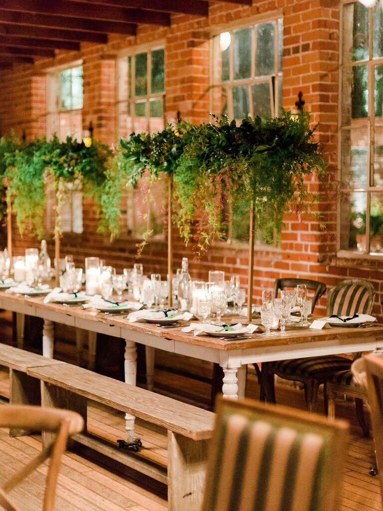 Wedding Centerpieces Tall Greens