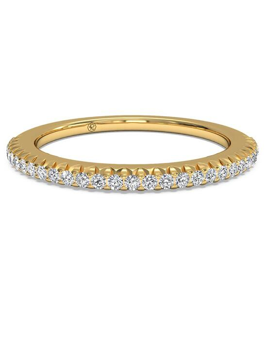 Ritani Women's Open Micropave Diamond Wedding Band - in 18kt Yellow Gold (0.13 CTW) Wedding Ring photo