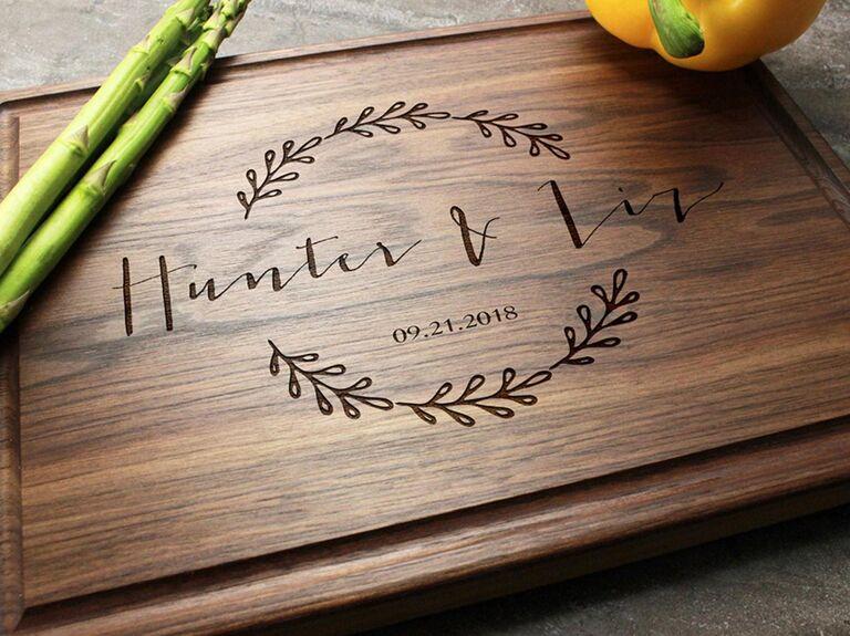 Engraved cutting board gift for boyfriend/girlfriend's parents