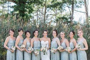 Sage Green Adrianna Papell Bridesmaid Dresses