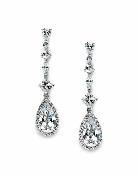 USABride Nyna CZ Drop Earrings Wedding Earrings photo