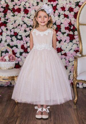 Kid's Dream 458 Ivory,White,Pink Flower Girl Dress