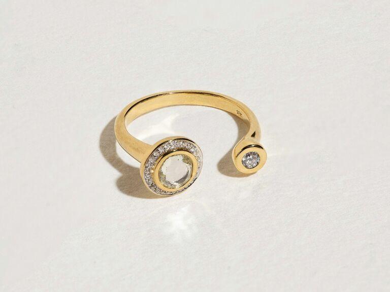 Pamela Love two stone engagement ring