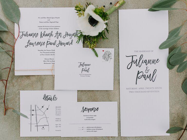 Wedding invitation trends minimalism