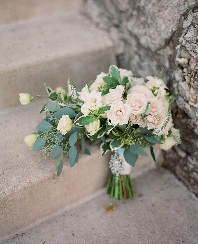 eucalyptus bridal bouquet |<img class=