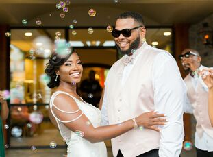 Despite the ongoing pandemic and a postponement from their original wedding date, Asha and Zane were able to celebrate in style with a romantic-meets-