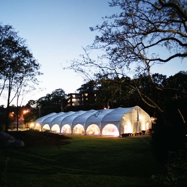 A tent on the grounds of Misselwood was transformed into a chic reception venue.