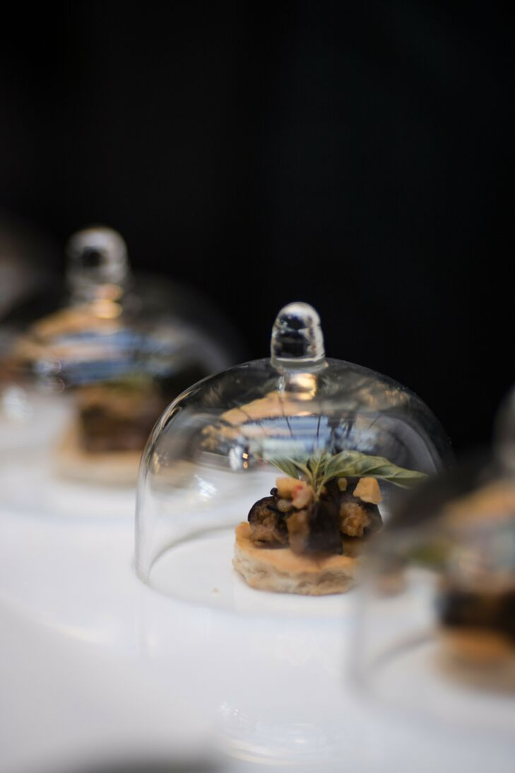 Mini Hors D'Oeuvres Under Glass Cloches