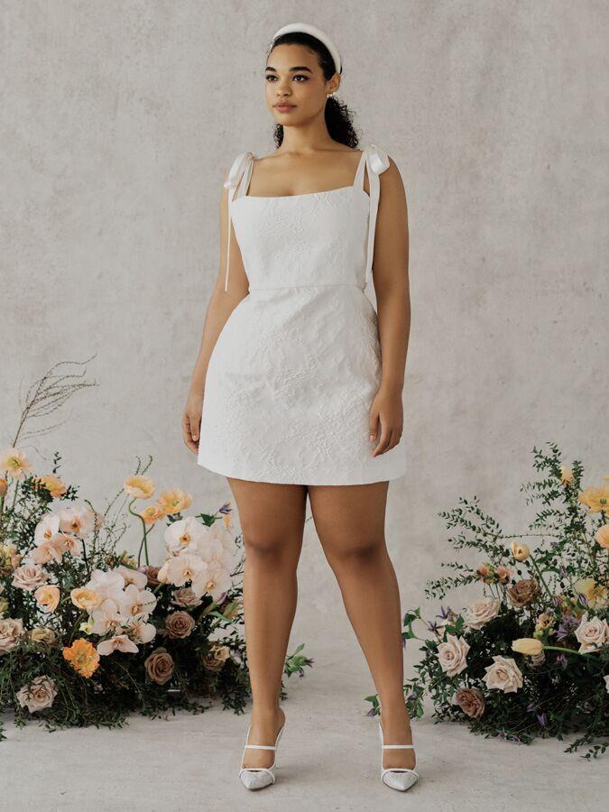 Alexandra Grecco Poppy floral brocade mini dress