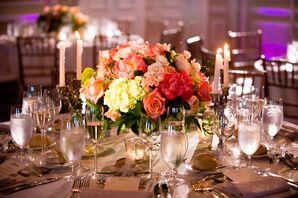 Elegant Rose and Hydrangea Centerpieces