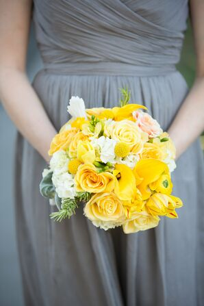 Cheerful Yellow Bridesmaid Bouquet