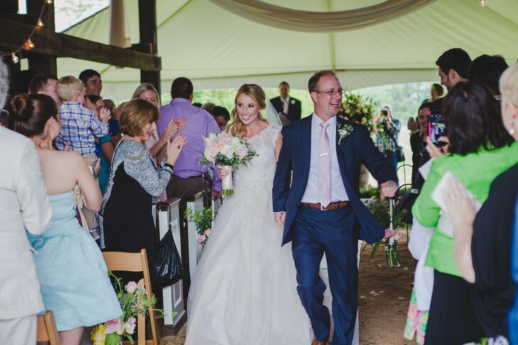 Hayley Paige Ball Gown in Barn Wedding