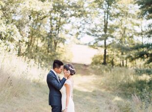 Nature lovers Christie and Emmanuel envisioned an outdoor wedding in the Boston area, where they met in college. Just outside the city, Fruitlands Mus