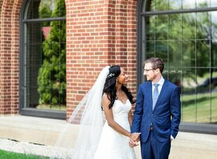 To celebrate their union, Yvette and John exchanged vows with a backyard wedding ceremony at a private residence in Ann Arbor, Michigan. Following the