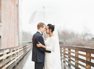 Desta Lissanu (24 and a medical student) and Benjamin Likis (25 and a graduate student) planned a rustic-chic fete for their midwinter wedding at Char
